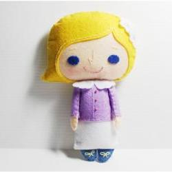 Alice girl - doll pattern, felt doll, PDF