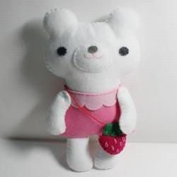 Little Polar Bear - doll pattern, felt doll, PDF
